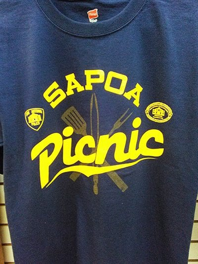 sapoa picnic blue t-shirt