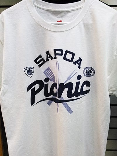 sapoa picnic white t-shirt