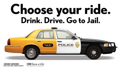 Choose your ride. Drink. Drive. Go to Jail.