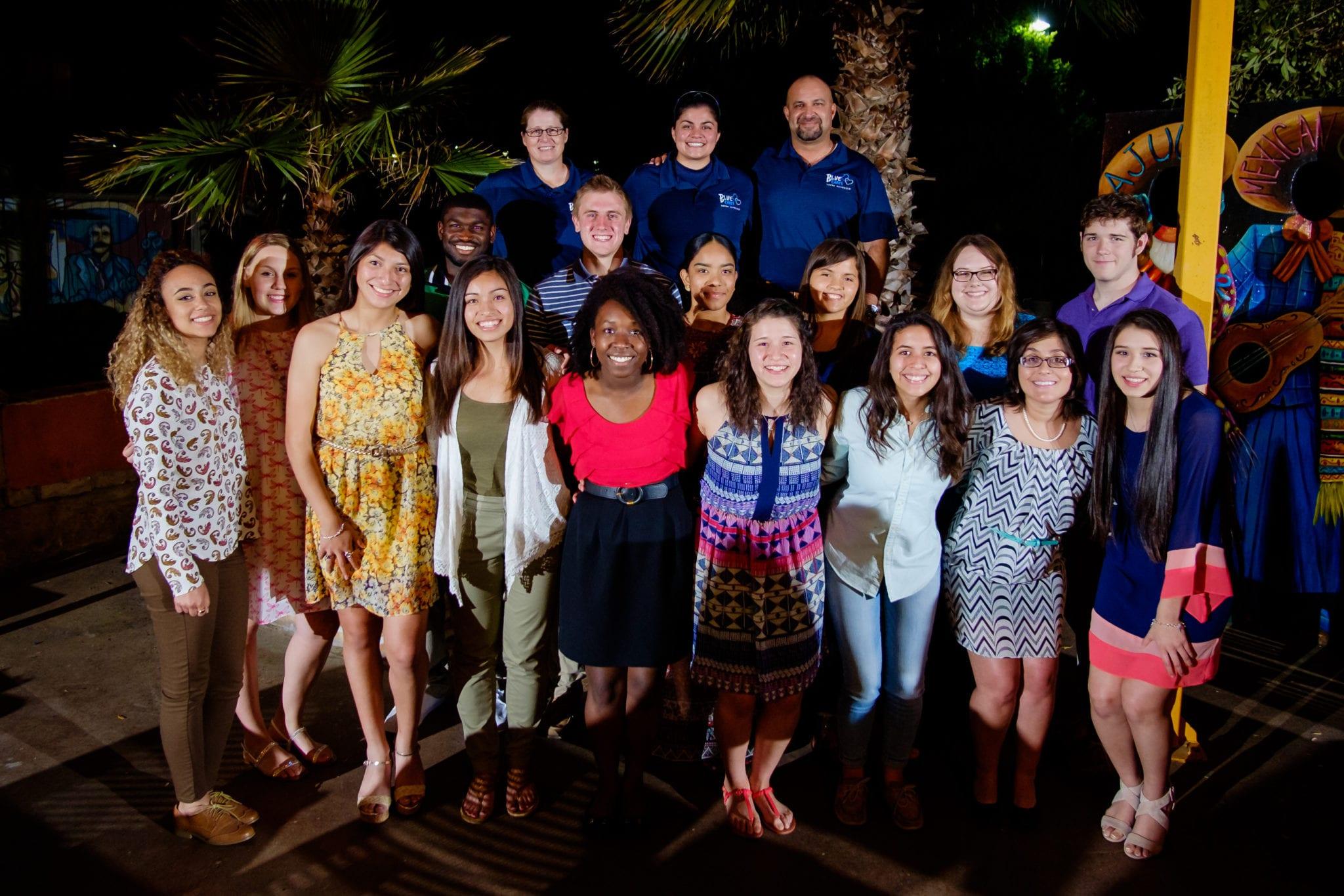 SAPD Association scholarship winners at their annual dinner