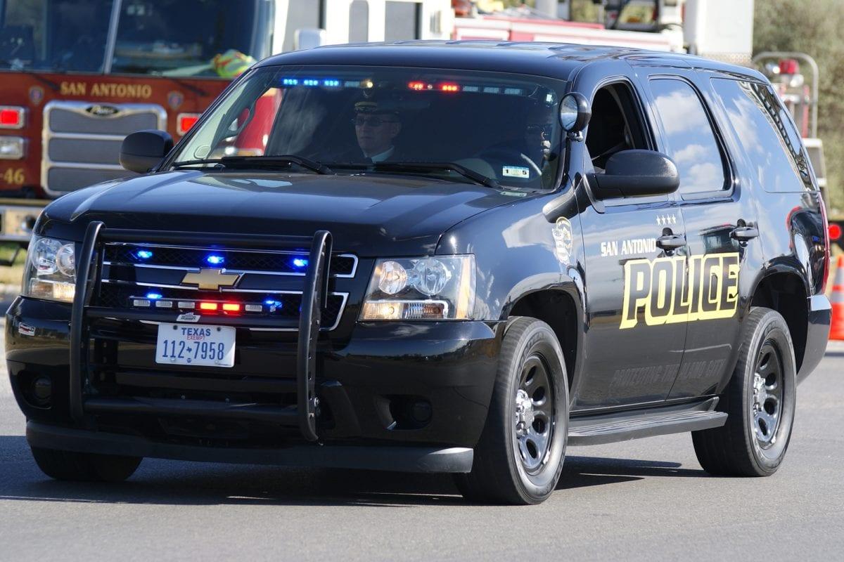 Police SUV driving in San Antonio