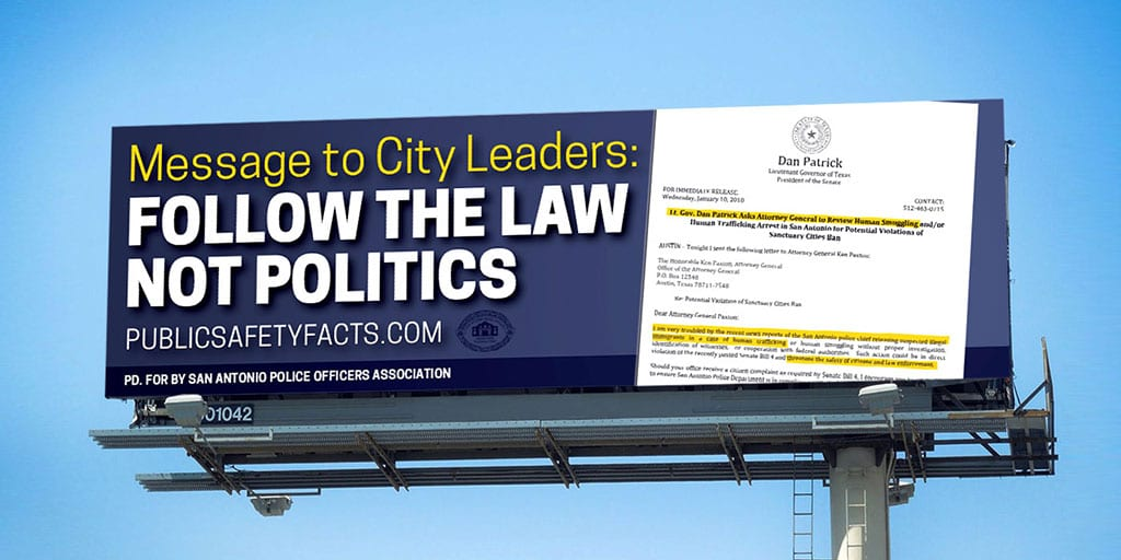 PSF Billboard: Message To City Leaders