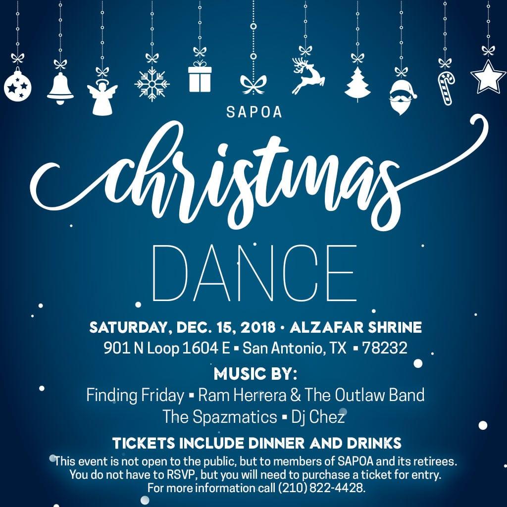 SAPOA Christmas Dance 2018 Flyer