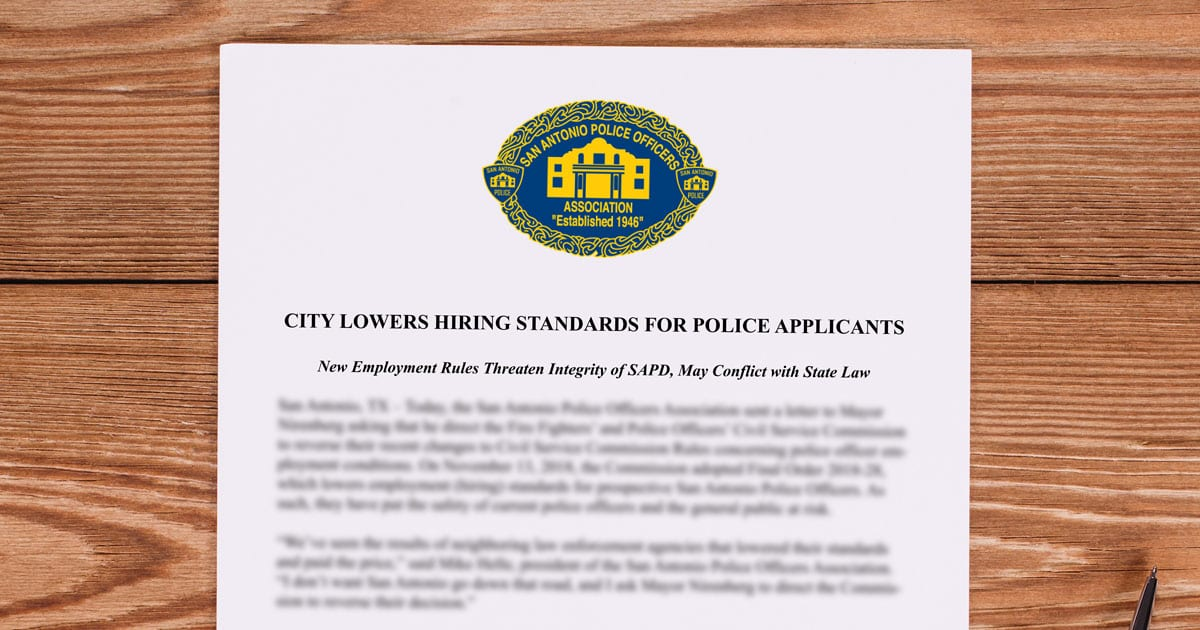 City Lowers Hiring Standards For Police Applicants