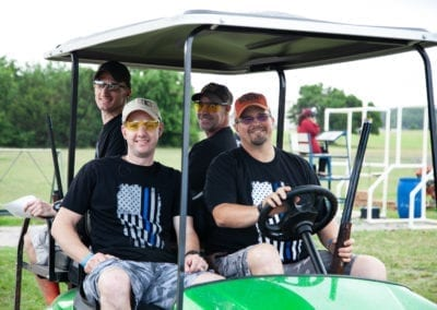 SAPOA Blue Cares Clay Shoot Team Golf Cart