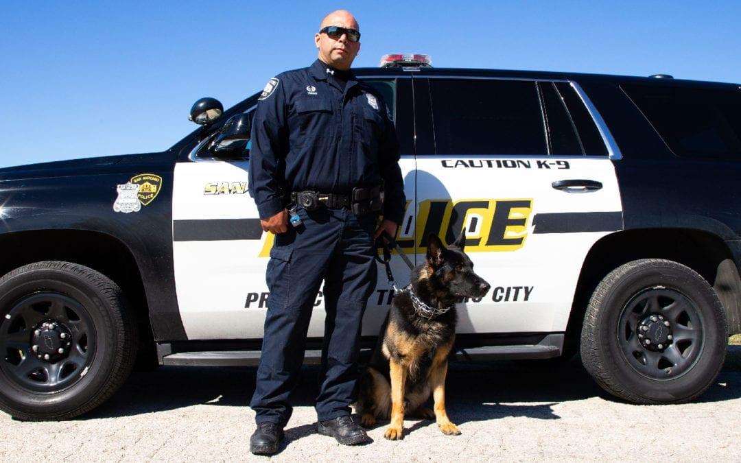 Officer Trigo and Duke