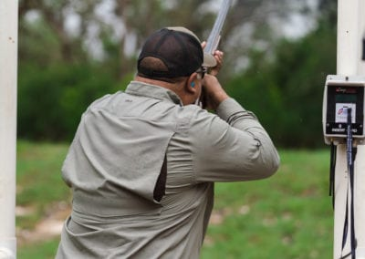 Man participating in Clay shoot