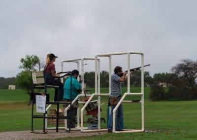 Clay shoot set up